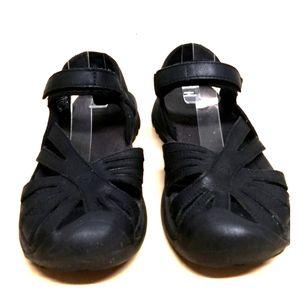 Keen leather closed-toe waterproof sandals blk 8